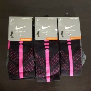 NIKE HYPER ELITE CUSHIONEDd BREAST CANCER SOCKS.